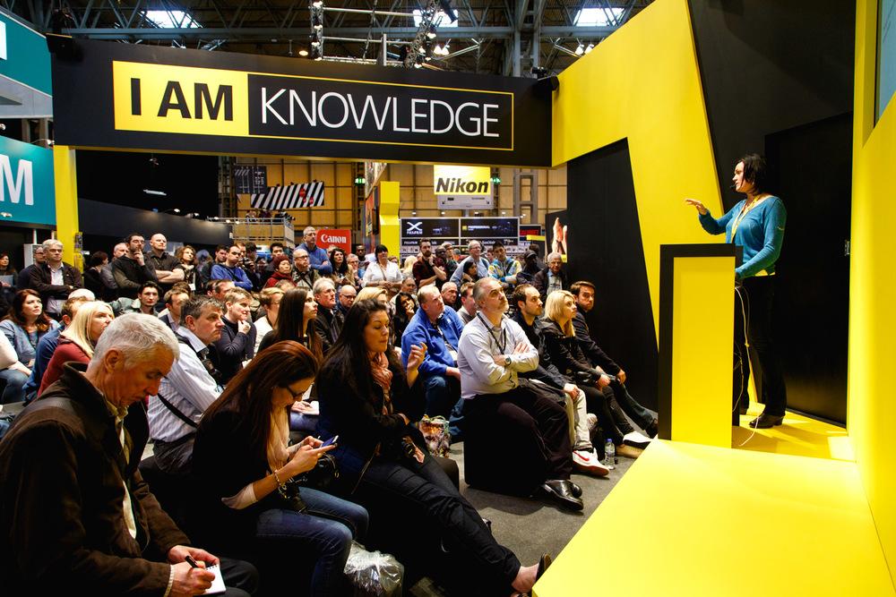 Nikon's stage.