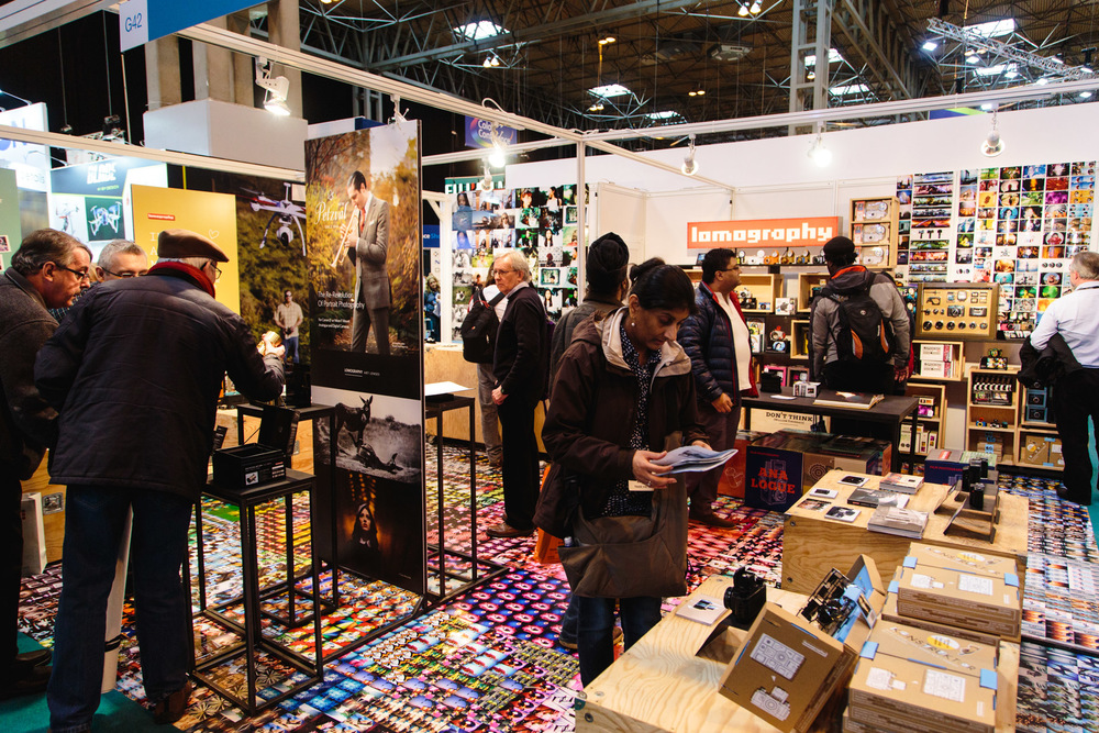 Lomography's stand.