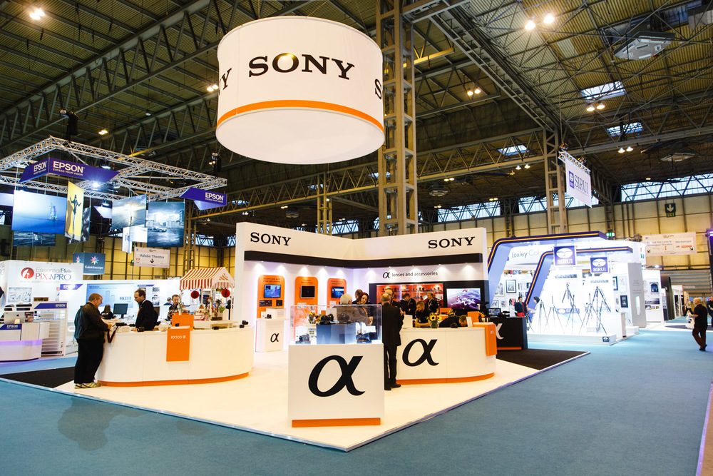 Sony's stand.
