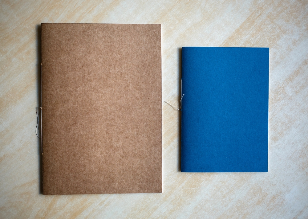 Final book (left) and the practice book (right).