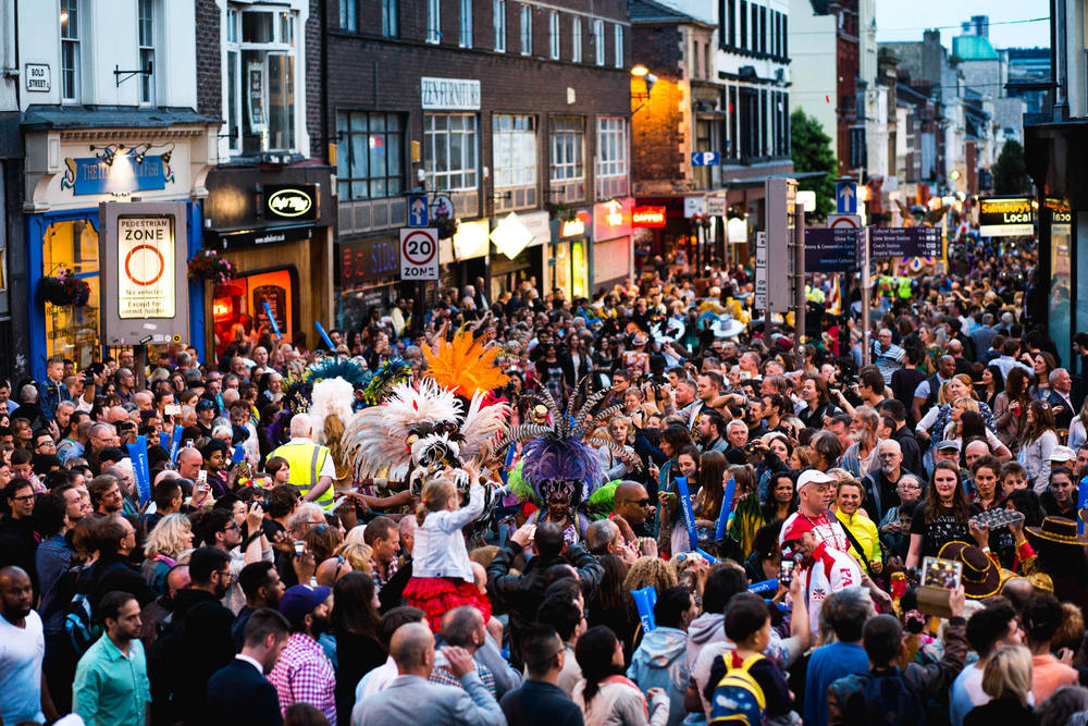 July - Crowds took to the streets of Liverpool to see the sights and sounds of the  Brazilica  Samba parade...