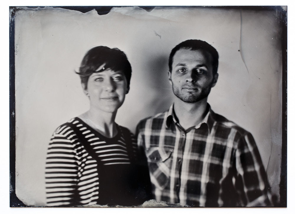 December - ...also at the Fayre, photographer John Brewer (aka The Victorian Photographer) took a wet-plate portrait of Hannah and myself. It was fascinating to see a traditional process carried out in front of me.