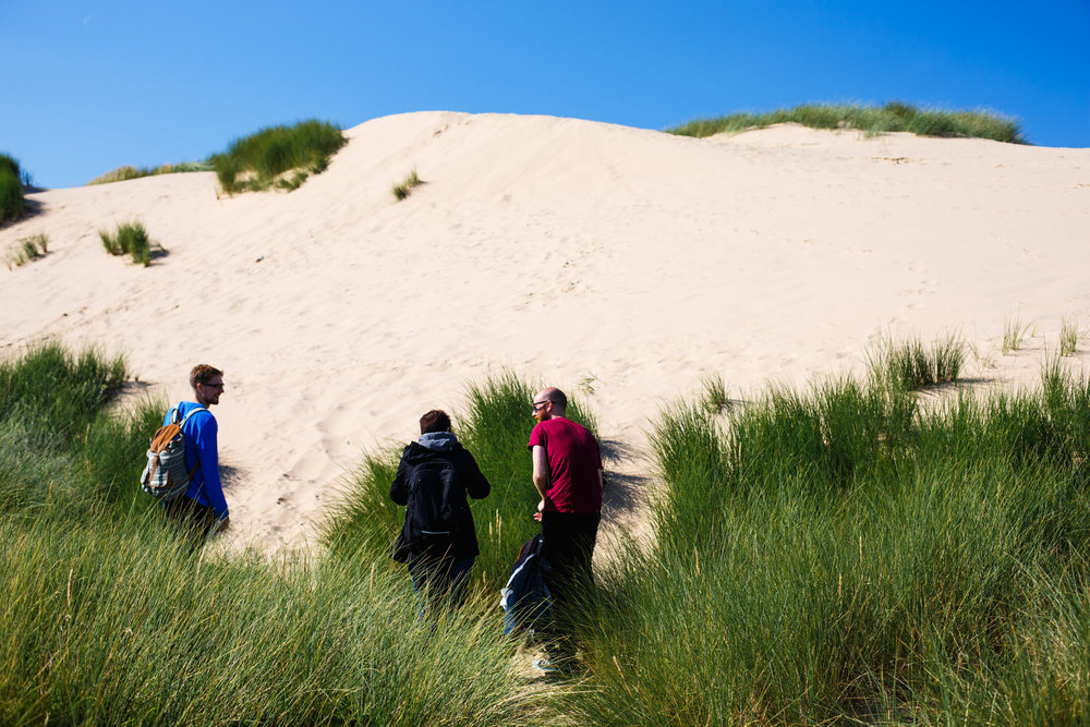 ...being surprised again when we reached the mighty sand-dunes!