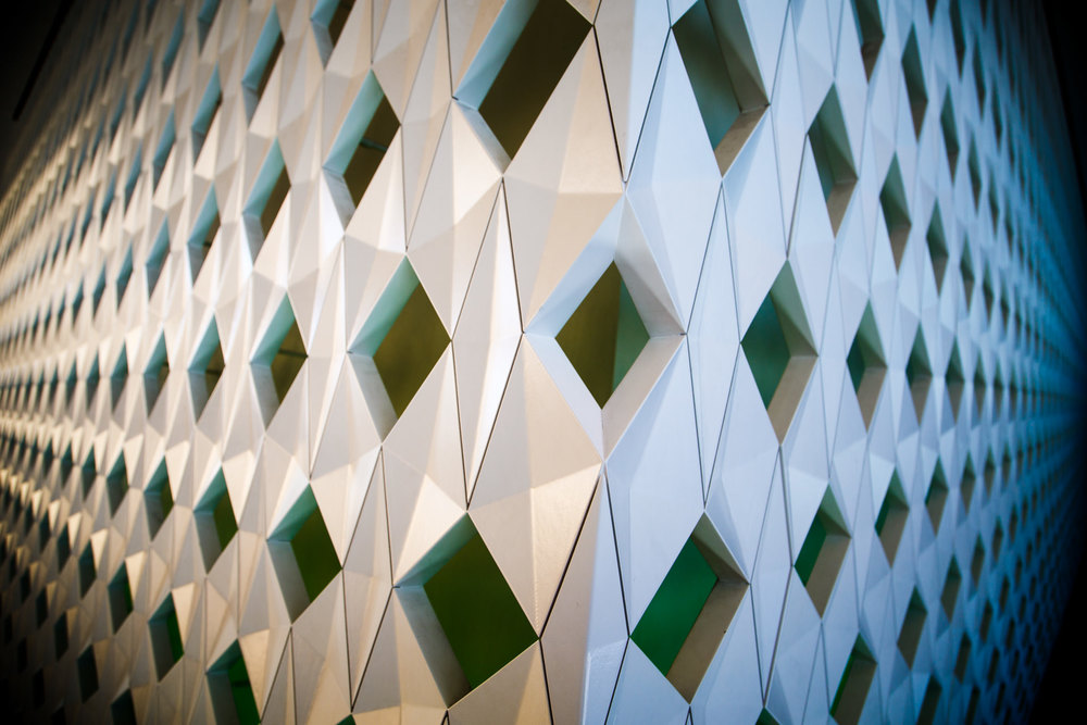 ...such as these walls designed by  Olafur Eliasson .