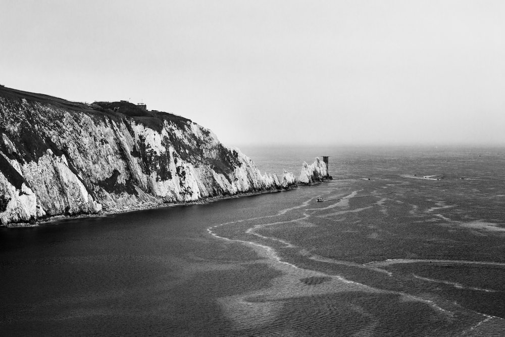 The Needles  from the north side. The Needles Old Battery was a Victorian defence fort built in 1862 and used during both World Wars.