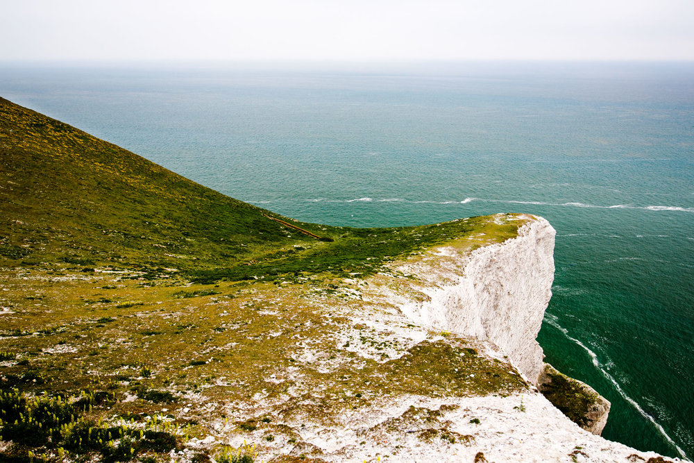 From the southern viewpoint of The Needles, the land continues to wind to your left to...