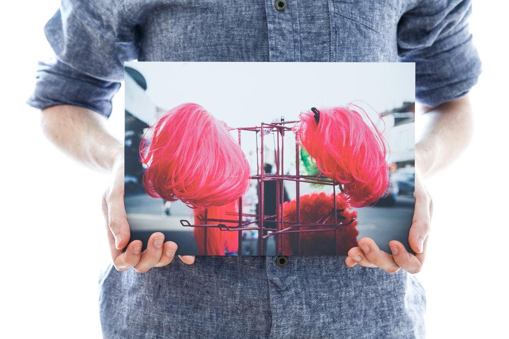 'Pink Wig Rack' (30x20cm - £40)