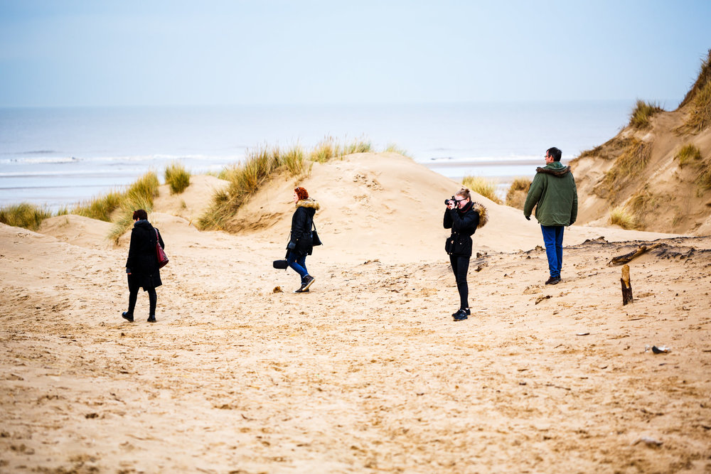 January - a visit to Formby beach with family.