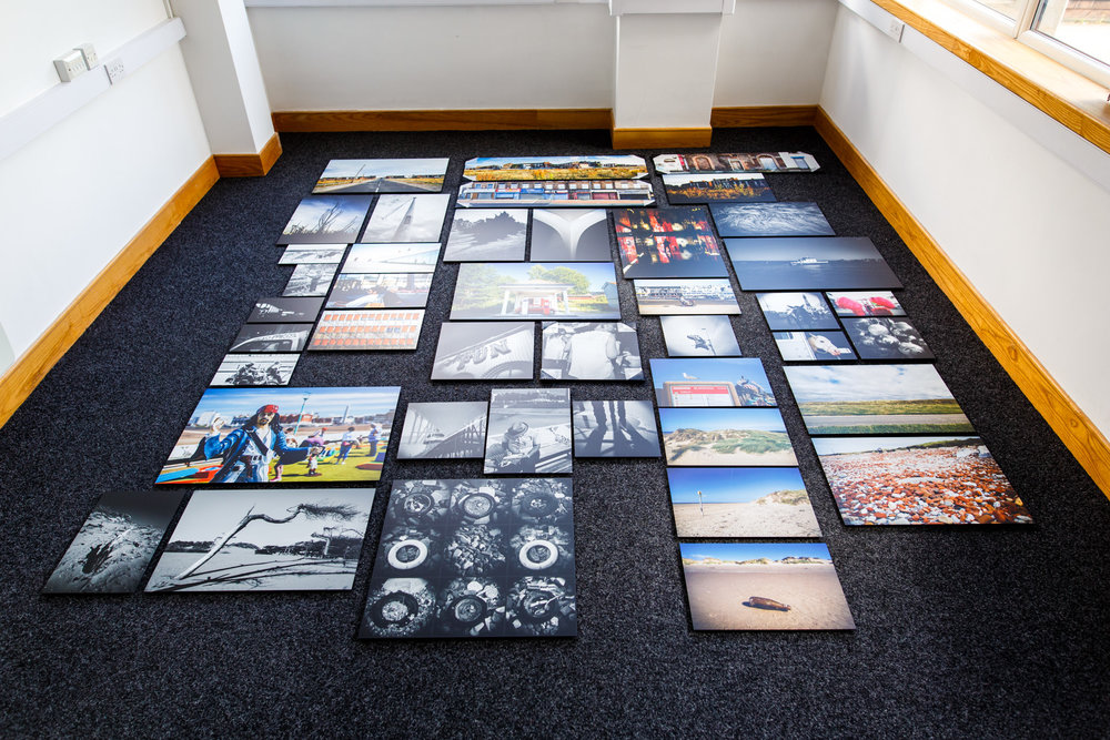 July - all the prints for my exhibition...