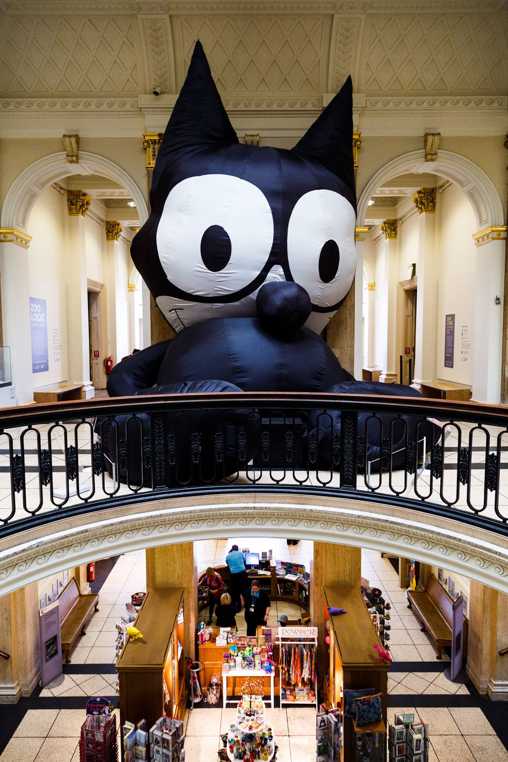 October - Mark Leckey's big inflatable Felix the Cat at the Walker Gallery. On this day I visited various Biennial locations with an old college friend.