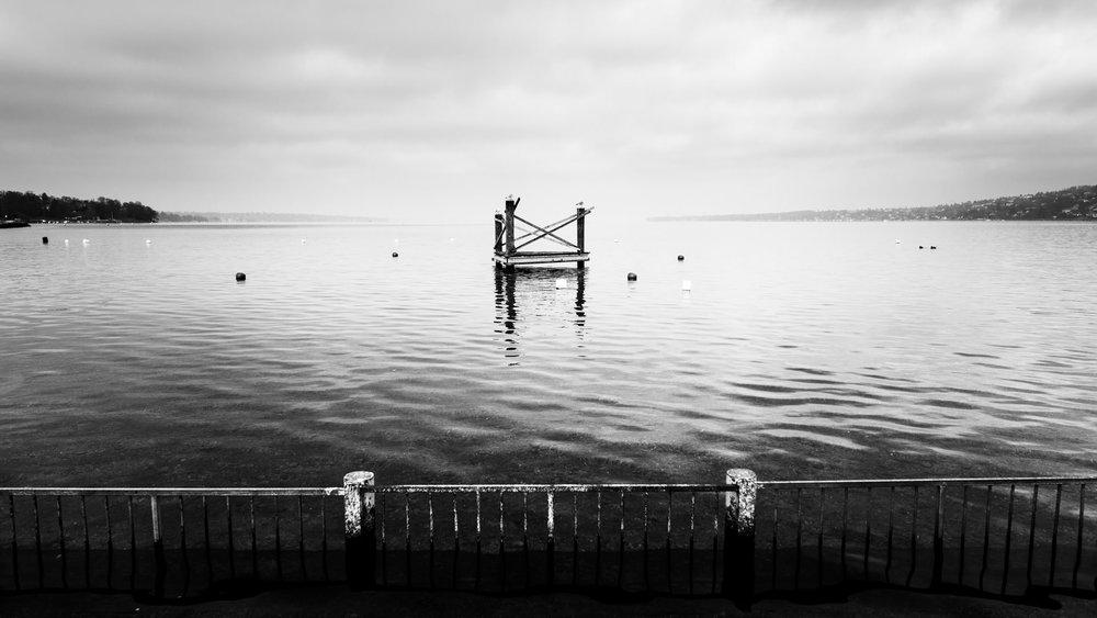 Looking out across Lake Geneva.