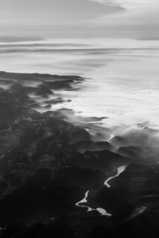 Take-off over Switzerland.