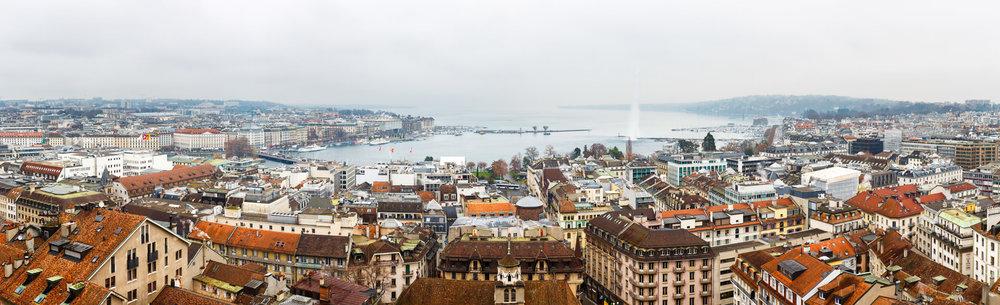 The view across Lake Geneva.
