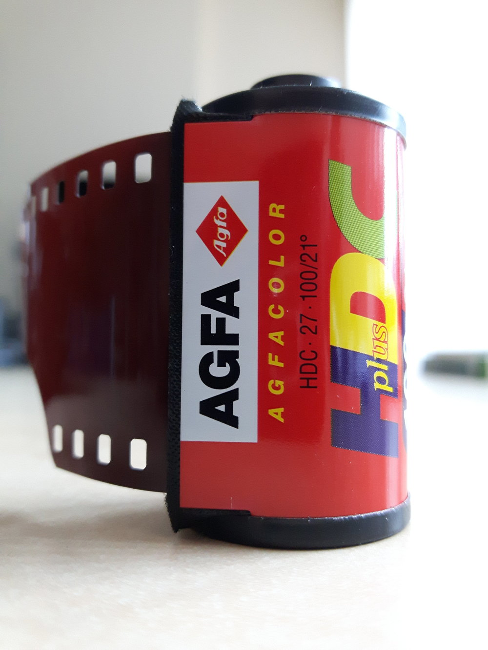 Agfa HDC Plus - the roll of film that Mia sent to me, all the way from Santa Cruz, California.