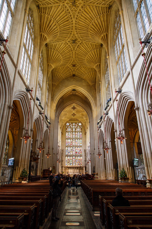 Inside the Abbey.