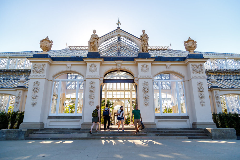 Entering the Temperate House, which had recently had a huge renovation.