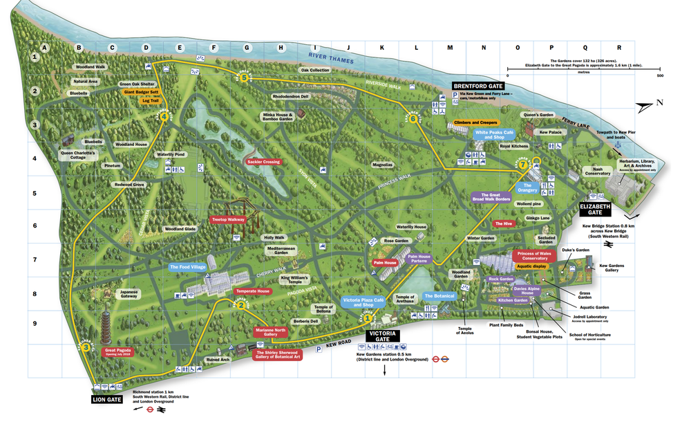 I was surprised by how big this botanical garden is and highly recommend going. Just make sure you give yourself a full day to see it all! This map might give you an idea of how large it is.