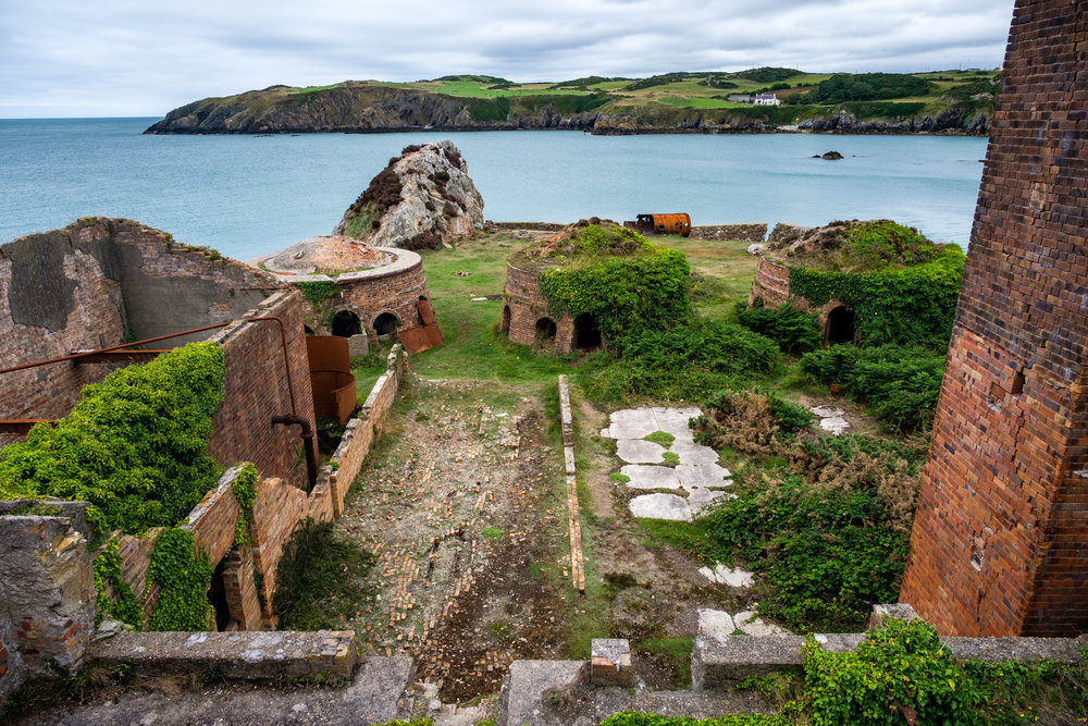 …the view of the brickworks once you arrive. Based on the north coast of Anglesey, Porth Wen Brickworks was a Victorian-era factory that produced fire bricks made from quartzite (silica).