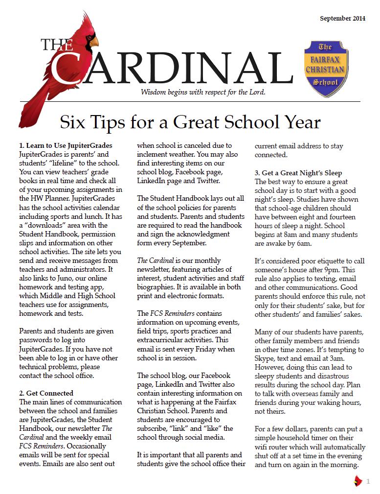 Cover: September Cardinal