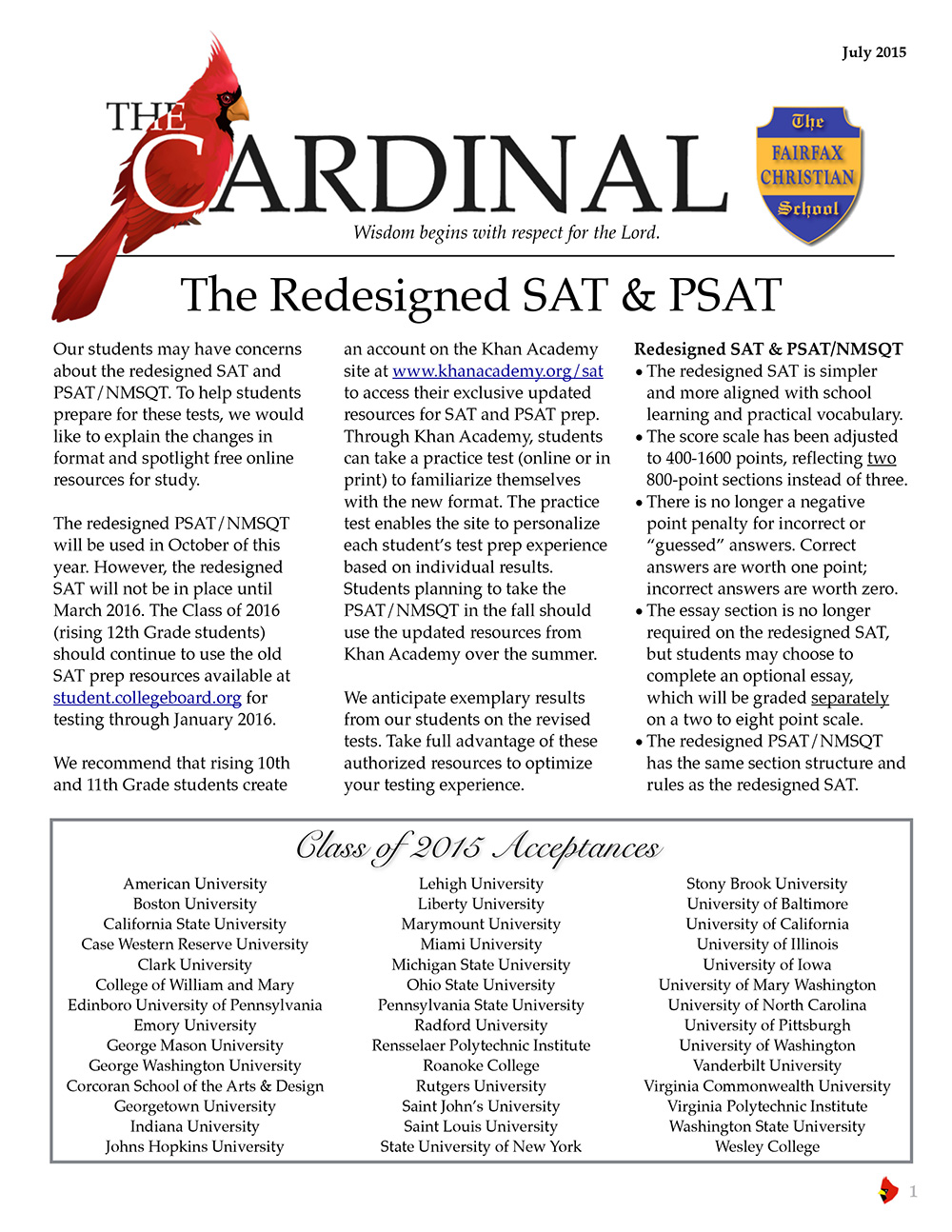 The fairfax christian school school news blog viewdownload the july 2015 edition of the cardinal fandeluxe Images