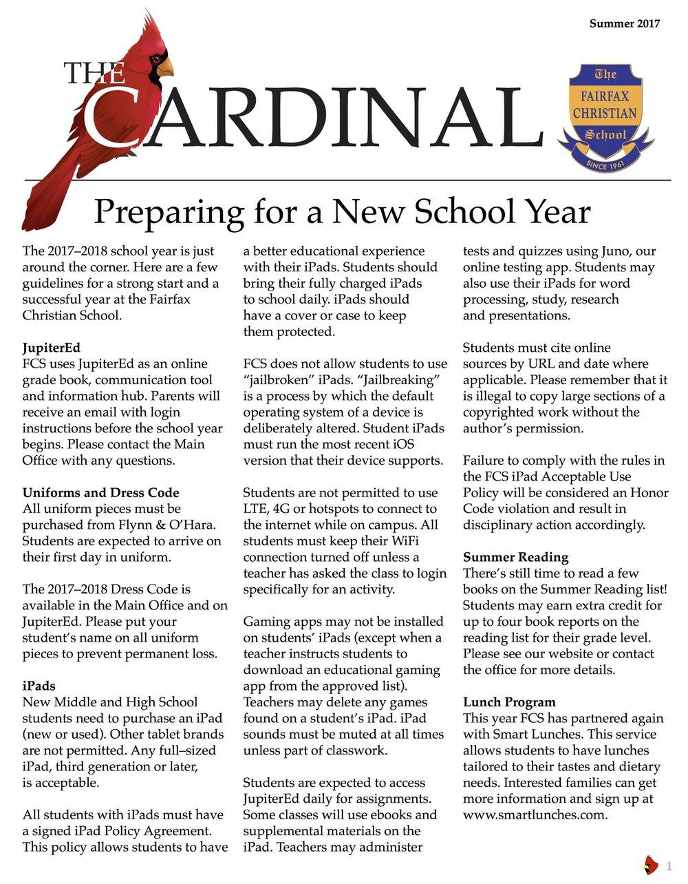 The Cardinal Summer 2017