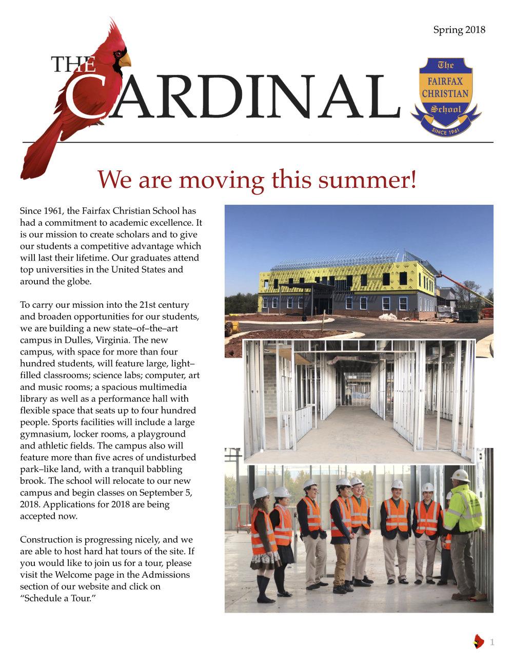 The Cardinal Spring 2018