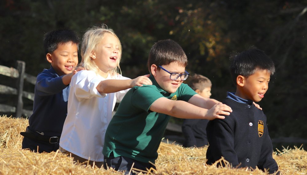 FCS students having fun at Mount Vernon.