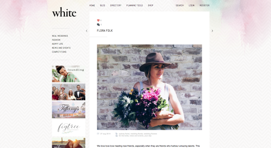 I was recently interviewed by the lovely ladies at White Magazine. Read the full interview on their  blog !