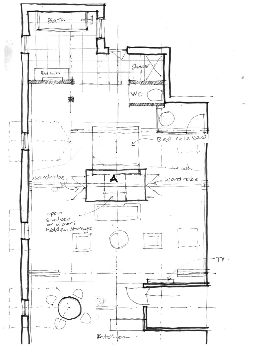 Layout sketch plan -Attic