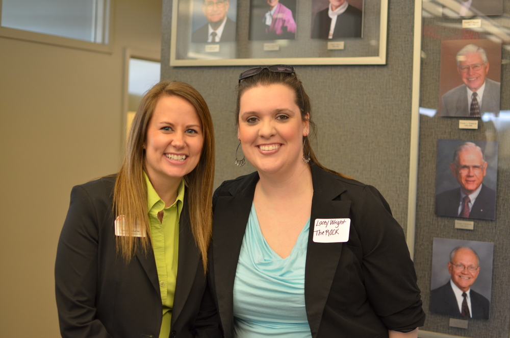 MACF Staff member Emily Schafer and guest Lacey Wright at the 2014 Annual Meeting