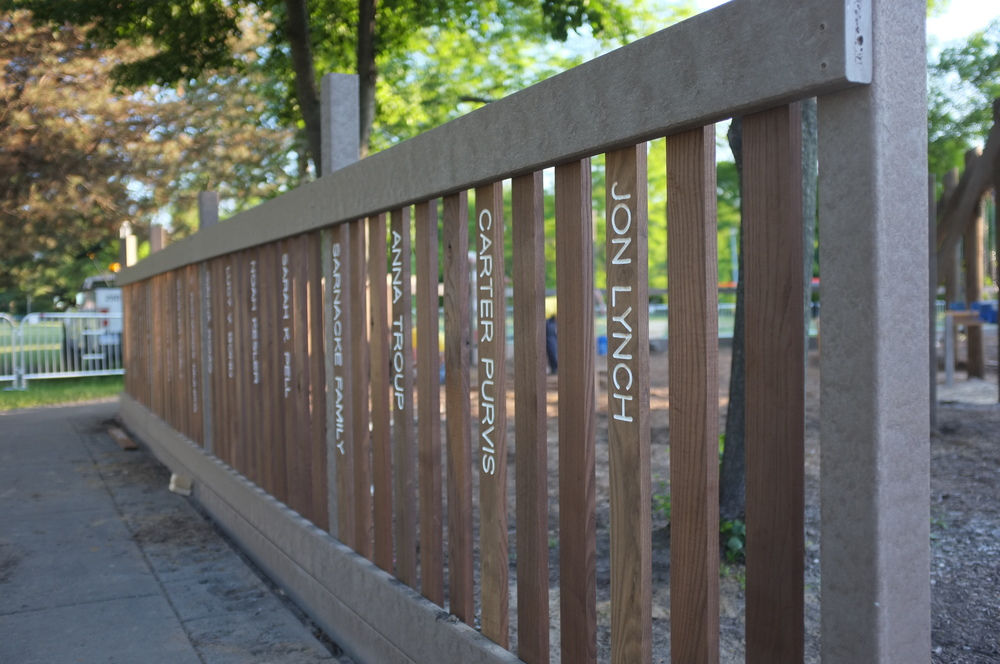 Get your name on the fence and help support the Fun Zone well into the future!