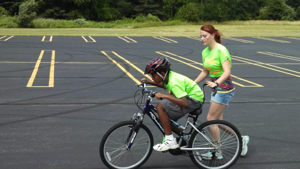 The Arc of Midland Bike Camp attendees learn to ride a two wheel bicycle in just one day.