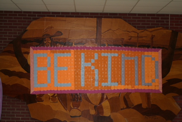 A mural seen at Northeast Middle School