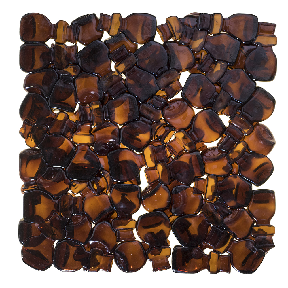 Amber Glass Tiles Back