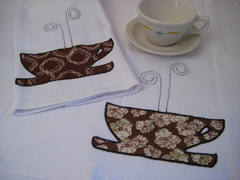 coffee cup towels