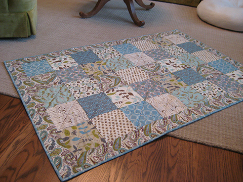 baby blue skies quilt