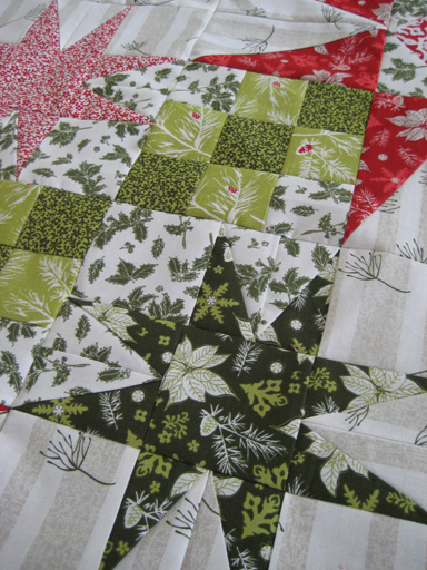 twinkling stars quilt top