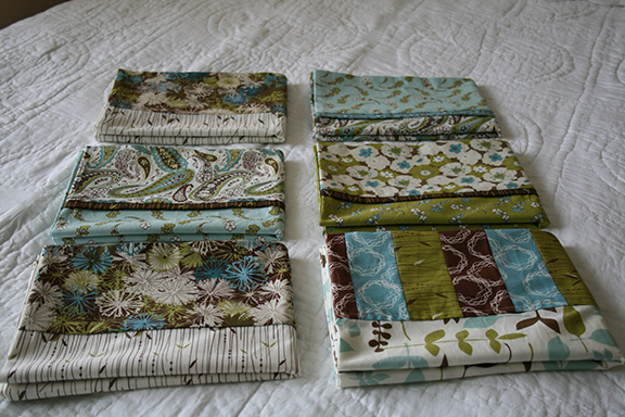 Blue Skies pillowcases folded