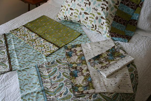Blue Skies pillowcases open