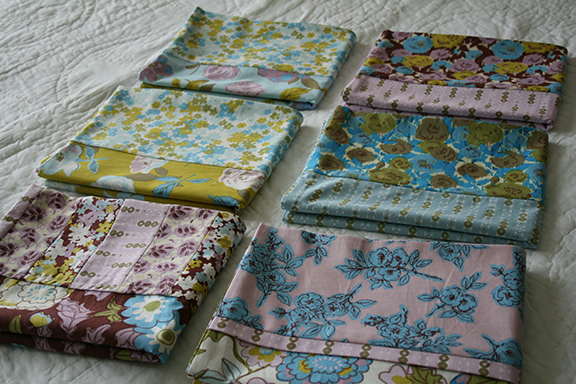 Love Grows pillowcases folded