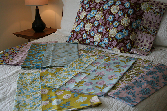 Love Grows pillowcases open