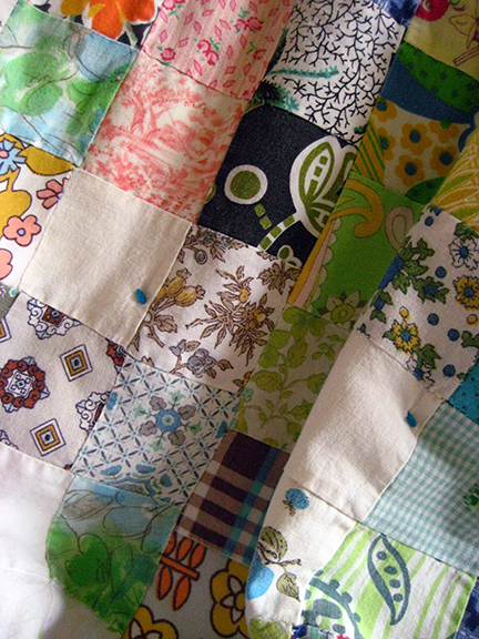 doll quilt close-up