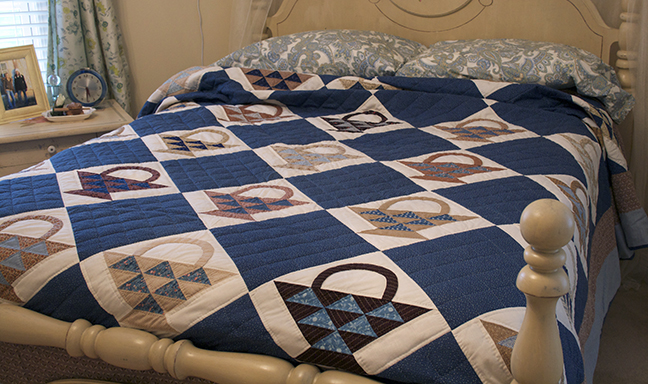 Blue Basket quilt