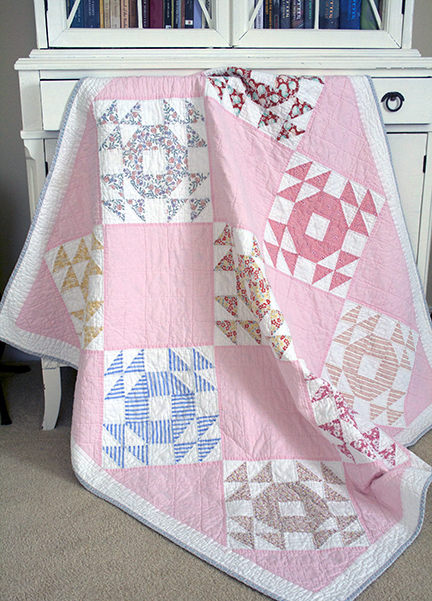 Diamond Ring baby quilt