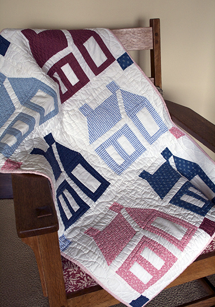 School House baby quilt
