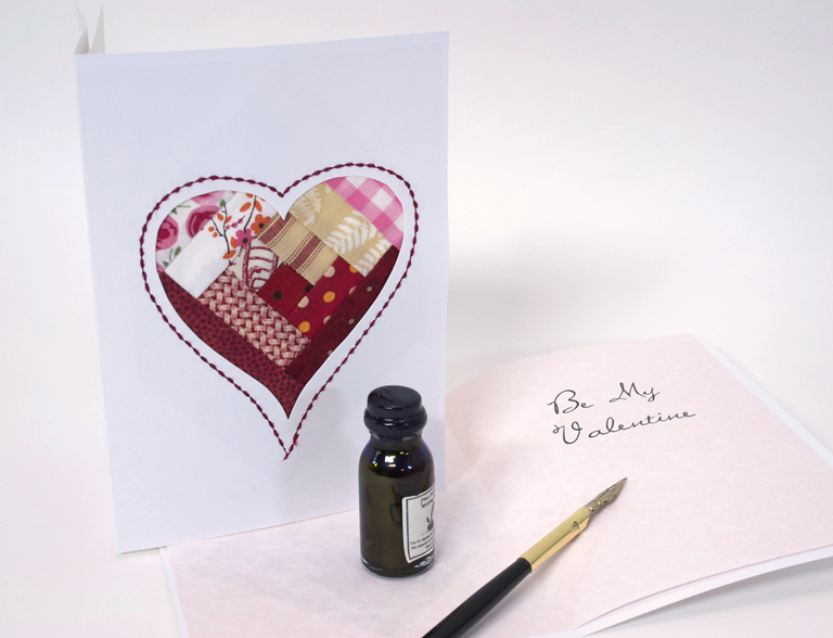 Valentine's Card inside web
