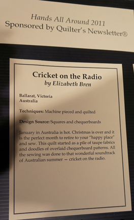 Cricket on the Radio writeup