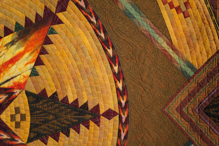 Native Weaving- Feathered Star Closeup