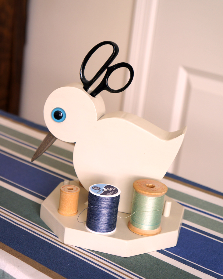 Dad's sewing bird