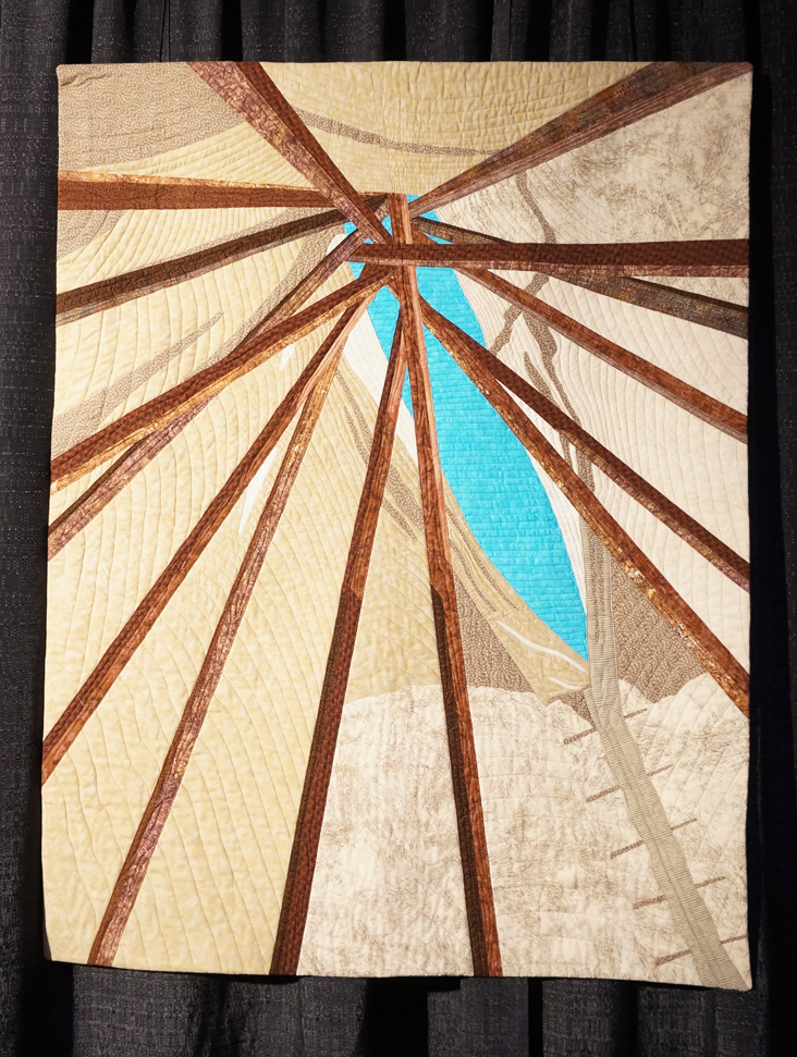 Inside the tipi by Terry Aske